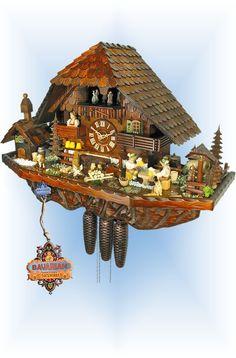 Schwer Hohenhof Farm cuckoo clock 17'' - Bavarian Clockworks