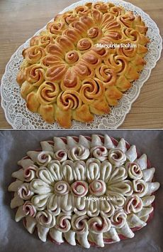 Little rolls of pizza. Beef Tenderloin Recipes, Cookie Bowls, Pastry Design, Bread Shaping, Bread Art, Bread And Pastries, Football Food, Artisan Bread, Appetizer Recipes