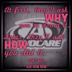 AdvoCare all the way! For more information, please visit my site at www.advocare.com/... Start today its only 24 days, I'd love to help! Distributor Megan Siddoway 150272557