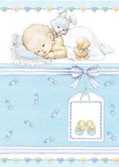 Ruth Morehead baby boy card