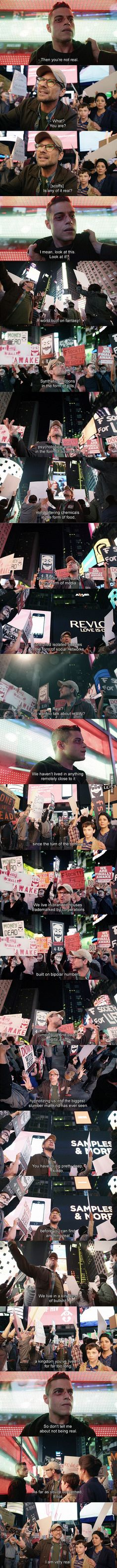 Epic speech is Epic. (Mr Robot) - 9GAG