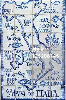 Mapa de #Italia