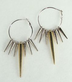 Edgy sharp spike earrings