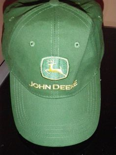 John Deere Tractor Baseball Cap Trucker Hat GREEN Adjustable Buckle Back  #johndeere