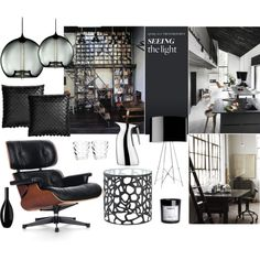 Modern Living by nmkratz on Polyvore featuring interior, interiors, interior design, home, home decor, interior decorating, Vitra, Flos, Georg Jensen and Zara Home
