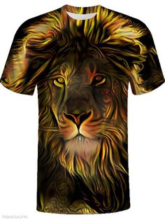 Allywit-Mens Fashion Figure Print Short Sleeve T Shirt Casual Cotton Loose Tees Shirts Plus Size