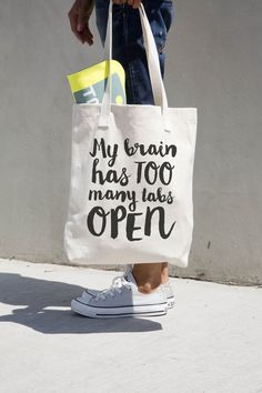 My Brain Has Too Many Tabs Open // CraftyLemonPrints