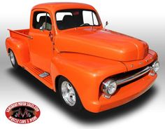 1952 Ford F1 Truck Competition-orange