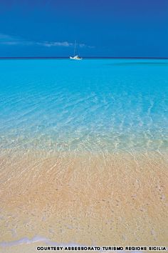 San Vito Lo Capo Beach - blue gradient
