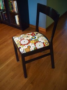 AFTER! new life for my old chairs. reupholstered #Ikea Roger chair & Reupholstered Dining Chairs | My Projects | Pinterest | Dining ...