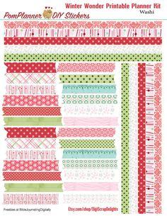 SALE 4.00 Planner Kit Winter Wonder Printable por DigiScrapDelights