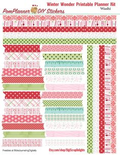 Winter Wonder Printable Planner Kit 3 PDFs by DigiScrapDelights #winter #christmas #printable #planner #kit #decoration #stickers #organization #clean #decor #frozen