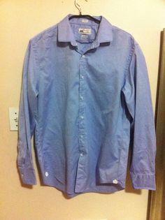 Men's J. CREW **Thomas Mason** Blue Button Down Shirt Sz L (16x16 1/2) #JCrew