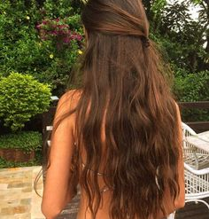 Short Messy Brown Balayage Hairstyle, Click the image now for more info. Beautiful Long Hair, Gorgeous Hair, Hairstyles Haircuts, Pretty Hairstyles, Really Long Hair, How To Make Hair, Hair Looks, Dyed Hair, Hair Inspiration