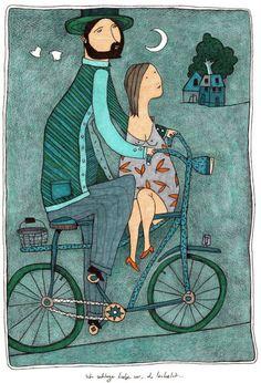 Bicycle Romance by Mehrdad Zaeri
