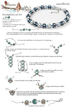 FREE Tutorial for Beaded Beads by Elfenatelier. Per beaded bead use: seed beads 11/0, 8 bicone beads 4mm, 4 round beads 6mm