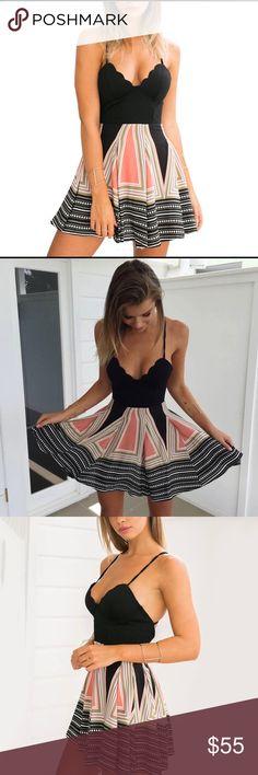 "✨NEW ARRIVAL✨Sophia Boho Black Pink Pattern Duress ✨Sophia Boho Black & Pink Pattern Dress✨  Material: Cotton, Polyester  Sizing:  Small 4-6 Bust 34.5"" Waist 27-28"" Length 31-32""  Medium 8-10 Bust 35"" Waist 29-30"" Length 31-32""  Large 12 Bust 38"" Waist 31-32"" Length 32"" GlamVault Dresses Mini"