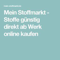 Mein Stoffmarkt - Stoffe günstig direkt ab Werk online kaufen