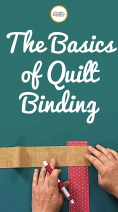 Finishing a quilt with binding isn't a difficult thing to learn. Check out these quilt binding basics from National Quilters Circle Quilting For Beginners, Sewing Projects For Beginners, Quilting Tips, Quilting Tutorials, Machine Quilting, Sewing Tutorials, Beginner Quilting, Quilting Projects, Sewing Hacks