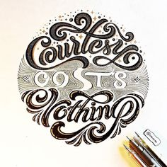Some great flow in that 'nothing' script. Type by @onevu | #typegang - typegang.com | typegang.com #typegang #typography
