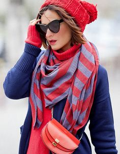 navy blue and red accents - fall outfits   chloe georgia bag