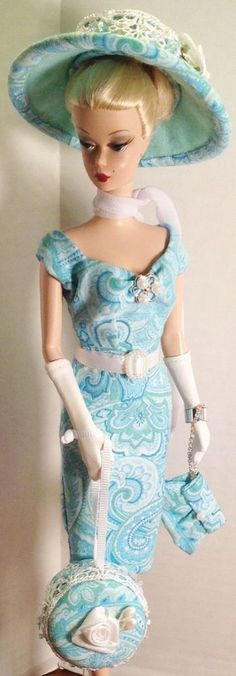 "OOAK Handmade outfit/Acc. ""Aqua Dream"" for Silkstone Barbie doll"