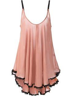 Fleur du mal Lace Trim Babydoll in Pink (pink & purple) Pink Lingerie, Pretty Lingerie, Vintage Lingerie, Beautiful Lingerie, Lace Babydoll, Babydoll Lingerie, Lingerie Sleepwear, Nightwear, Slep Dress