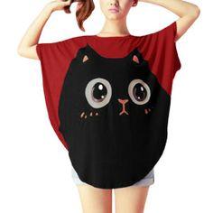 CLC bday     Amazon.com: Allegra K Women's Round Neck Batwing Sleeve Cartoon Pullover Tunic Shirt: Clothing