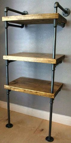 Industrial Media Stand, Pipe Shelving Unit- Media storage, Industrial Furniture, Industrial bookshelf, bookcase w/optional reclaimed wood Industrial Bookshelf, Industrial Design Furniture, Industrial Interiors, Pipe Furniture, Industrial Style, Furniture Design, Industrial Pipe, Industrial Closet, Industrial Windows