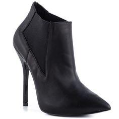 Steve Madden  Devil  Black Leather Heels Large Size Shoes, Pointed Toe Heels, Black Leather Heels, Casual Heels, Dream Shoes, Devil, Steve Madden, Booty, Shopping