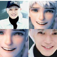 Why do so many Kpop stars look like Jack Frost?!