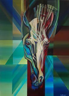 horses head by Eugene Melamed