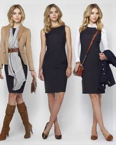 Brooks Brothers Fall 1 dress, 3 ways. So useful for extending a work wardrobe. Brooks Brothers Fall 1 dress, 3 ways. So useful for extending a work wardrobe. Mode Outfits, Office Outfits, Dress Outfits, Fall Outfits, Casual Outfits, Fashion Outfits, Womens Fashion, Fashion Blogs, Petite Fashion