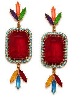 BaubleBar  Versaille Dye Gem Earrings (Erickson Beamon + BaubleBar)