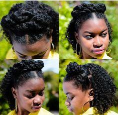 @sashabasha2    Half up half down hairstyle. hairstyles for curly hair. natural hair. hairstyles for natural hair. curly girl.