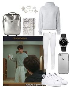 """""""Gong Yoo in """"Goblin"""" Ep 2"""" by catezovi ❤ liked on Polyvore featuring Charlotte Russe, rag & bone, Le Kasha, Go Stationery, adidas Originals, Prada and Mestige"""