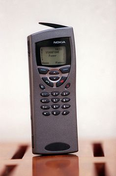 1999: A Nokia 9110 which has a fax phone and internet connection