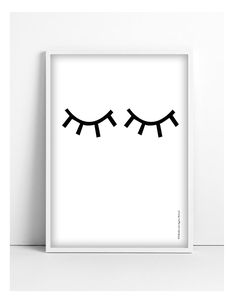 Printable Eye poster A3 - black - Instant Digital Download Printable Wall Art for nursery @Tellkiddo