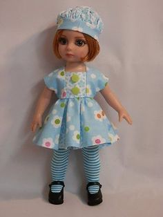 In My Blue Garden 3 Piece Set for Tonner Patsy Anne Estelle by PNL OOAK | eBay. Ends 7/27/14 BIN for $30.00.
