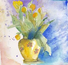 Bouquet de tulipes - Maryvonne Clement