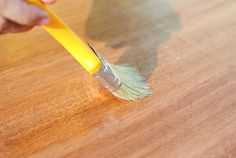 How to Stain Wood. Staining wood is super easy if you take the time to prepare your wood the right way. Some types of wood get splotchy when stains are added to them, making it important to use a wood conditioner before using the stain. Types Of Wood, Wood Table, Stain Wood, Woodworking, Sweet, Diy, Wood Types, Blue Prints, Do It Yourself