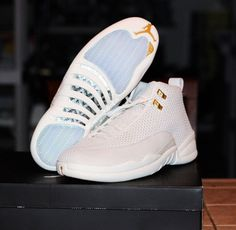 pick up f95fd f929a Take a closer look at the Air Jordan 12 White Gold, rumored to be the Air  Jordan The all-white upper sports a woven construction, with .