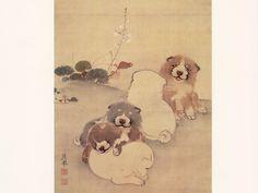 円山応挙「狗子図」