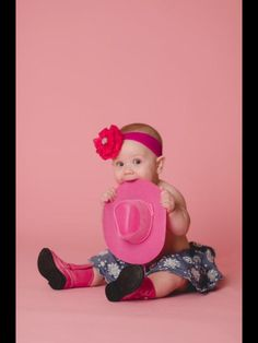 Cowgirl, country baby, pink cowgirl, Photography, 6 months, faith LeeAnne, photoshoot, chic, infant photography, baby photos, sassy, classy, country boots, love