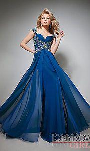 Buy Full Length Sweetheart Evening Dress at PromGirl