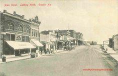 Granby, Missouri, Main Street Looking North, Newton County, MO, vintage postcard, postmarked 1912, historic photo