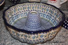 images of polish pottery | Polish Pottery Bundt Pan