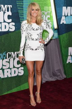 Carrie Underwood Stuns at CMT Awards in First Red Carpet Appearance Since Giving Birth