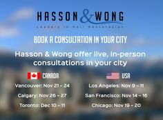Live, in-person hair transplant consultations in your city. Book Today! #hairtransplant #consultation #hassonandwong #hairloss