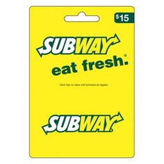 Subway Gift Card for sale online